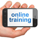 Education concept: smartphone with Online Training — Stock Photo
