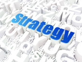 Business concept: Strategy on alphabet background — Stock Photo