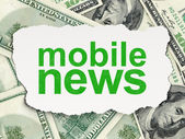News concept: Mobile News — Stock Photo