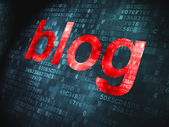SEO web design concept: Blog on digital background — Stock Photo