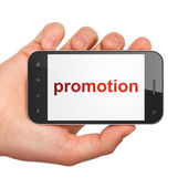 Advertising concept: smartphone with Promotion — Stock Photo