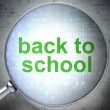 Stock Photo: Education concept: optical glass with words Back to School