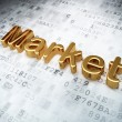 Stock Photo: Finance concept: Golden Market on digital background