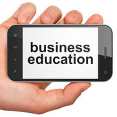 Education concept: smartphone Business Education — Stock Photo
