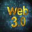 SEO web development concept: Web 3.0 on digital background — Stock fotografie #20718733