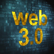 Stock Photo: SEO web development concept: Web 3.0 on digital background