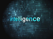 Education concept: Intelligence on digital background — Stock Photo