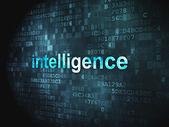 Education concept: Intelligence on digital background — Stock Photo
