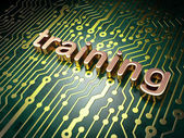 Education concept: circuit board with word Training — Stock Photo