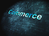 Business concept: Commerce on digital background — Stock Photo