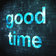 Time concept: Good Time on digital background — Stock Photo
