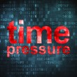 Stock Photo: Timeline concept: Time Pressure on digital background