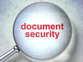 Privacy concept: optical glass with words Document Security — Stock Photo