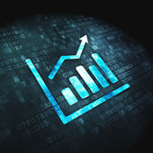 Finance concept: Growth Graph on digital background — Stock Photo