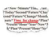 Time concept: Time for Change on Array — Stock Photo