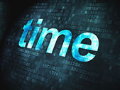 Timeline concept: Time on digital background — Stockfoto