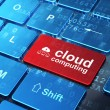 Cloud computing concept: Cloud Network and Cloud Computing on co — Stock Photo