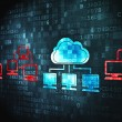 Cloud computing concept: Cloud Technology on digital background — Stock Photo #22201445
