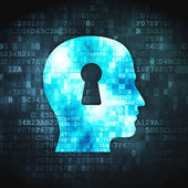 Information concept: Head Whis Keyhole on digital background — Stock Photo