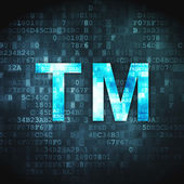 Law concept: Trademark on digital background — Stockfoto