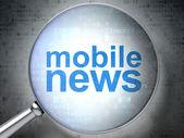 News concept: Mobile News with optical glass — Stock Photo
