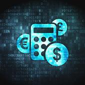 Finance concept: Calculator on digital background — 图库照片