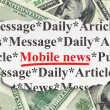 News concept: Mobile News on Money — Stock Photo