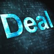 Stock Photo: Business concept: Deal on digital background