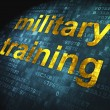 Education concept: Military Training on digital background — Stock Photo