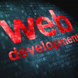 Постер, плакат: SEO web development concept: Web Development on digital backgrou