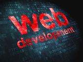 SEO web development concept: Web Development on digital backgrou — Stock Photo