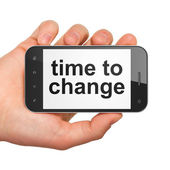 Timeline concept: Time to Change on smartphone — Stock Photo