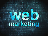 SEO web design concept: Web Marketing on digital background — Stockfoto
