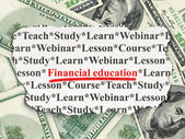 Education concept: Financial Education on Money — Stock Photo