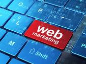Web design concept: Web Marketing on computer keyboard — Stock Photo