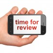 Timeline concept: Time for Review on smartphone — Stock Photo #22290373