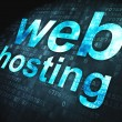 SEO web development concept: Web Hosting on digital background - Stock Photo