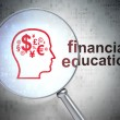 Education concept: Finance Symbol and Financial Education with o - Stock Photo