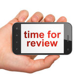 Timeline concept: Time for Review on smartphone — Stockfoto
