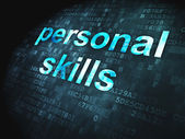 Education concept: Personal Skills on digital background — Foto de Stock
