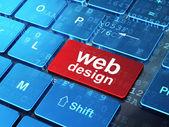 Web development concept: Web Design on computer keyboard — Stock Photo