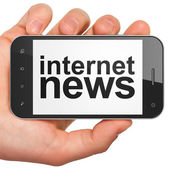 News concept: Internet News on smartphone — Foto Stock