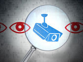 Security concept: Camera And Eye with optical glass — Stockfoto