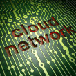 Stock Photo: Networking concept: Cloud Network on circuit board