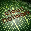 Networking concept: Cloud Network on circuit board — Stock Photo