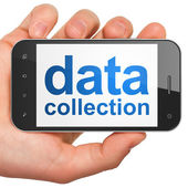 Information concept: Data Collection on smartphone — Stock Photo