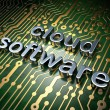 Cloud technology concept: Cloud Software on circuit board — Stock Photo