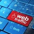 Web development concept: Mouse Cursor and Web Traffic on compute — Stock Photo #22335351