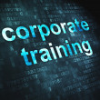 Stock Photo: Education concept: Corporate Training on digital background