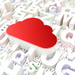 Stock Photo: Cloud computing concept: Cloud on alphabet background